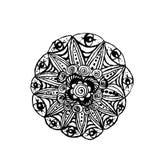 Vector il fiore circolare dell 39 estratto della mandala del - Modello di base del fiore ...