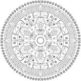 Illustrazione di vettore della mandala Modello ornamentale rotondo Immagine Stock