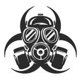 Illustrazione di vettore della maschera antigas respiratore Rischio biologico royalty illustrazione gratis