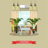 Illustrazione di vettore della mensa nello stile piano royalty illustrazione gratis