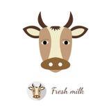 Illustrazione di vettore della mucca Illustrazione di Stock