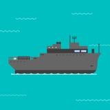 Illustrazione di vettore della nave Fotografie Stock Libere da Diritti