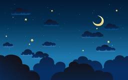Illustrazione di vettore della notte di buio di fantasia illustrazione vettoriale