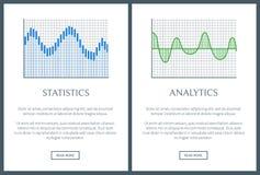 Illustrazione di vettore della pagina delle collezioni di statistiche illustrazione vettoriale