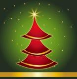 Illustrazione di vettore della priorità bassa del regalo della cartolina di Natale Fotografia Stock