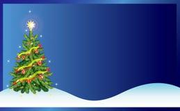Illustrazione di vettore della priorità bassa del regalo della cartolina di Natale Immagine Stock