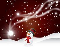 Illustrazione di vettore della priorità bassa della cartolina di Natale Immagini Stock Libere da Diritti