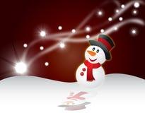 Illustrazione di vettore della priorità bassa della cartolina di Natale Fotografia Stock