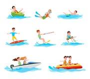 Illustrazione di vettore della raccolta di attività di estate royalty illustrazione gratis