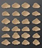 Illustrazione di vettore della raccolta delle nuvole Fotografie Stock Libere da Diritti