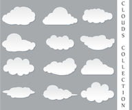 Illustrazione di vettore della raccolta delle nuvole Fotografia Stock