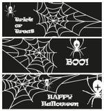 Illustrazione di vettore della raccolta di festa del fantasma del ragno delle insegne del partito di Halloween Fotografia Stock Libera da Diritti