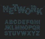 illustrazione di vettore della rete di progettazione della fonte Fotografia Stock Libera da Diritti
