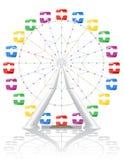 Illustrazione di vettore della ruota panoramica Fotografia Stock Libera da Diritti