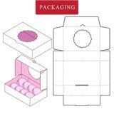 Illustrazione di vettore della scatola modello del pacchetto illustrazione di stock