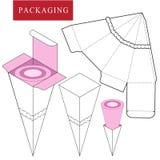 Illustrazione di vettore della scatola modello del pacchetto royalty illustrazione gratis