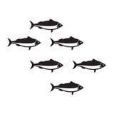 Illustrazione di vettore della scuola delle sardine royalty illustrazione gratis
