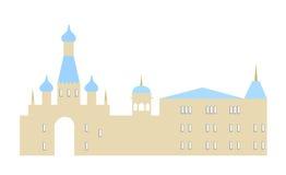 Illustrazione di vettore della siluetta della città Immagini Stock Libere da Diritti