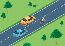 Illustrazione di vettore della situazione di traffico Immagine Stock Libera da Diritti