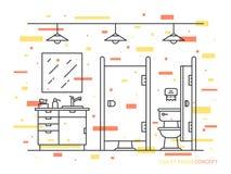 Illustrazione di vettore della stanza della toilette Fotografia Stock Libera da Diritti