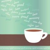 Illustrazione di vettore della tazza di caffè di mattina Immagine Stock