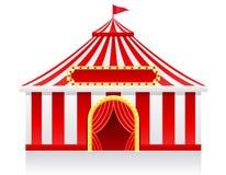 Illustrazione di vettore della tenda di circo Fotografie Stock Libere da Diritti