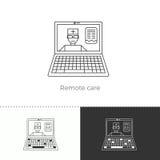 Illustrazione di vettore della tendenza futura della medicina illustrazione di stock