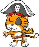 Illustrazione di vettore della tigre del pirata Fotografia Stock