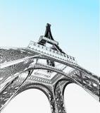Illustrazione di vettore della torre Eiffel royalty illustrazione gratis