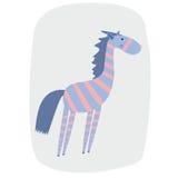 Illustrazione di vettore della zebra divertente del fumetto Immagini Stock