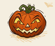 Illustrazione di vettore della zucca di Halloween Fotografia Stock