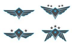 Illustrazione di vettore delle ali Fotografia Stock Libera da Diritti
