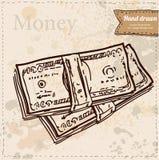 illustrazione di vettore delle banconote disegnata a mano Royalty Illustrazione gratis