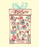 Illustrazione di vettore delle bottiglie del porfume Fotografia Stock
