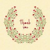 Illustrazione di vettore delle cartoline d'auguri con i fiori Fotografia Stock Libera da Diritti