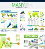 Illustrazione di vettore delle collezioni di Infographics illustrazione di stock
