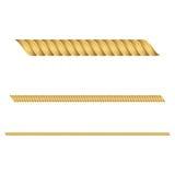 Illustrazione di vettore delle corde dell'oro Fotografia Stock