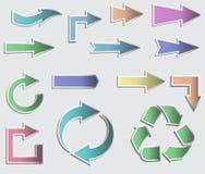 Illustrazione di vettore delle frecce appiccicose della raccolta. Immagine Stock