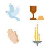 Illustrazione di vettore delle icone di religione Immagini Stock Libere da Diritti
