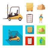 Illustrazione di vettore delle merci e del logo del carico Insieme delle merci e dell'illustrazione di riserva di vettore del mag illustrazione vettoriale