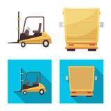 Illustrazione di vettore delle merci e del segno del carico Raccolta delle merci e dell'illustrazione di riserva di vettore del m illustrazione di stock