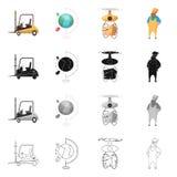 Illustrazione di vettore delle merci e del simbolo del carico Insieme delle merci ed icona di vettore del magazzino per le azione royalty illustrazione gratis