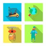 Illustrazione di vettore delle merci e del simbolo del carico Raccolta delle merci e dell'illustrazione di riserva di vettore del royalty illustrazione gratis