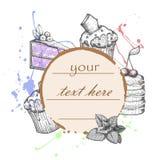 Illustrazione di vettore delle pasticcerie e del dessert royalty illustrazione gratis