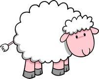 Illustrazione di vettore delle pecore Fotografie Stock Libere da Diritti