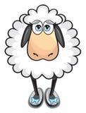 Pecore bianche sveglie illustrazione di stock