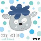 Illustrazione di vettore delle pecore della buona notte Fotografie Stock Libere da Diritti