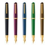 Illustrazione di vettore delle penne stilografiche Immagini Stock