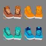 Illustrazione di vettore delle scarpe Fotografie Stock Libere da Diritti