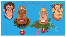 Illustrazione di vettore delle scimmie Fotografie Stock Libere da Diritti